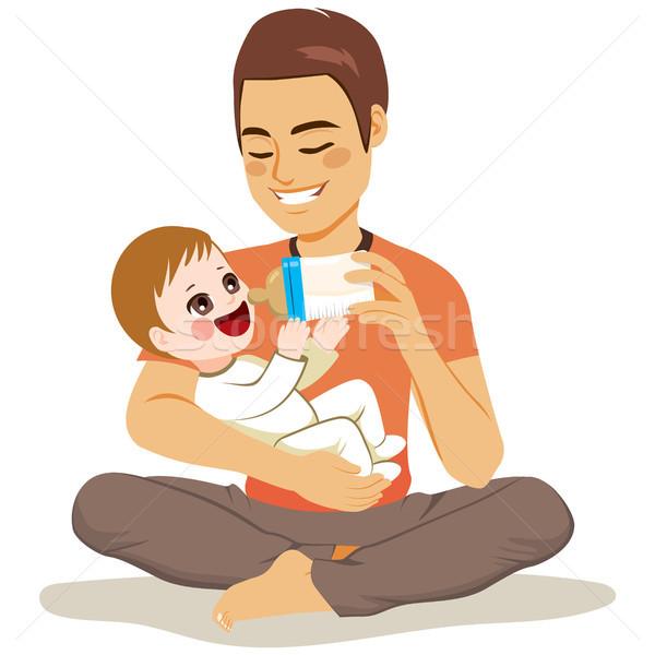 Father Feeding Baby Stock photo © Kakigori