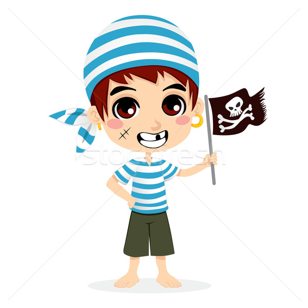 Little Pirate Kid Stock photo © Kakigori