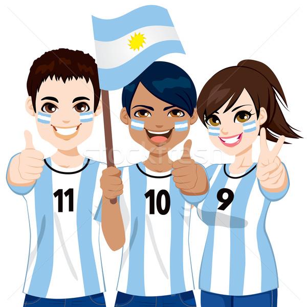 Argentinian Soccer Fans Stock photo © Kakigori