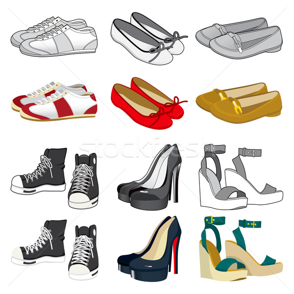 Woman Shoes Collection Stock photo © Kakigori