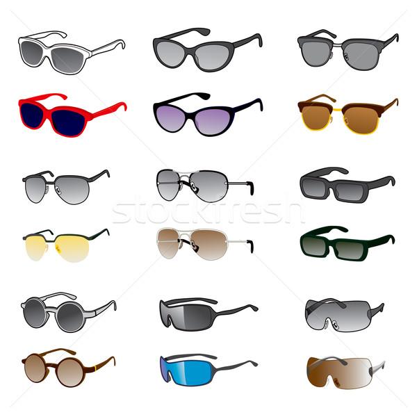 Nine Sunglasses Styles Stock photo © Kakigori