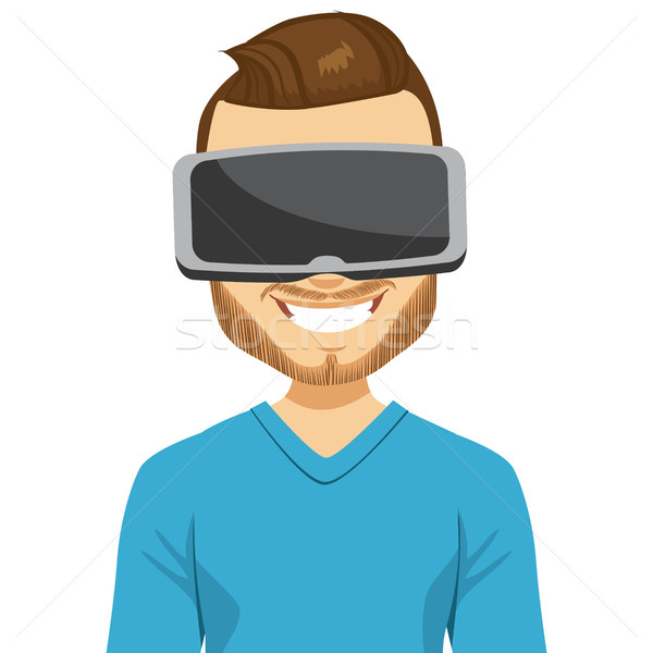 Man Virtual Reality Headset Stock photo © Kakigori