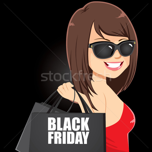 Black Friday Girl Stock photo © Kakigori