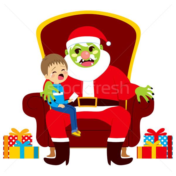 Santa Zombie With Kid Stock photo © Kakigori