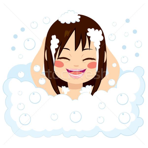 Happy Girl Having Bath Stock photo © Kakigori