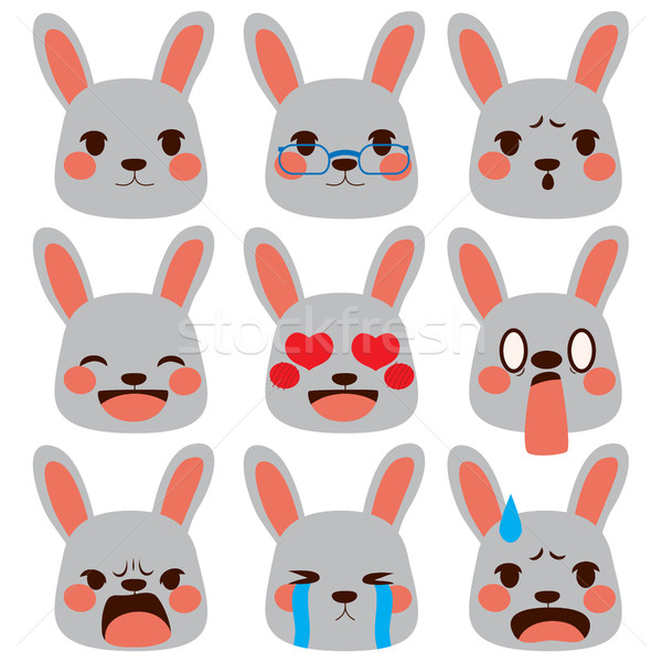 Rabbit Emoji Expressions Stock photo © Kakigori