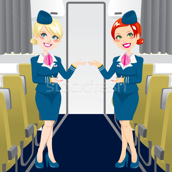 Beautiful Stewardess Stock photo © Kakigori
