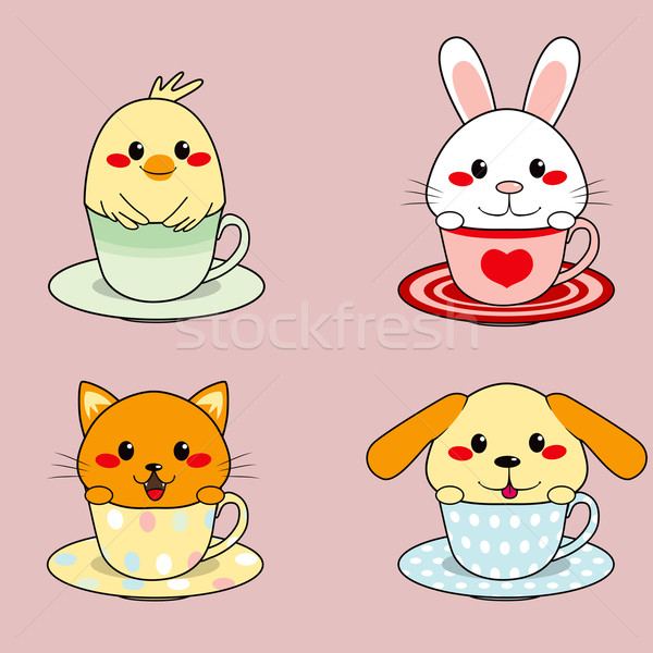 Teacup Animals Stock photo © Kakigori