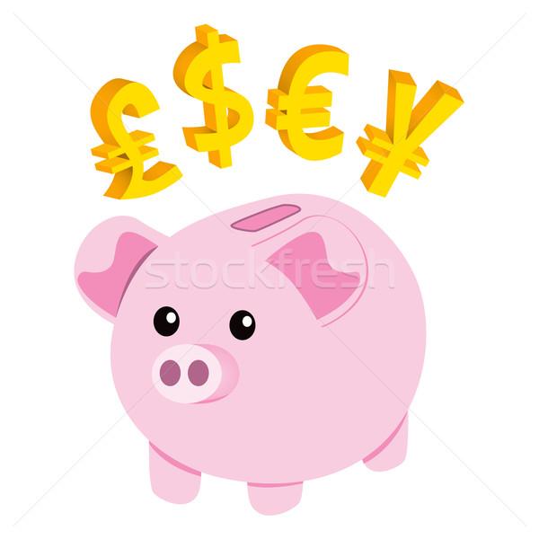 Piggy Bank Currency Stock photo © Kakigori