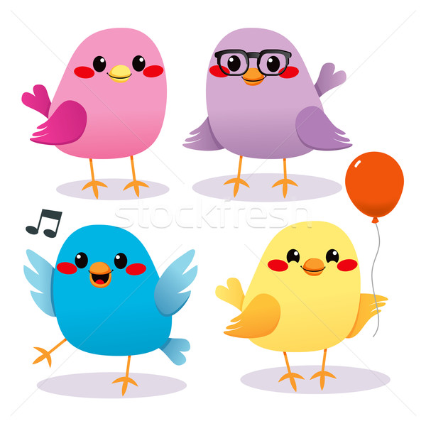 Stock photo: Colorful Bird Party