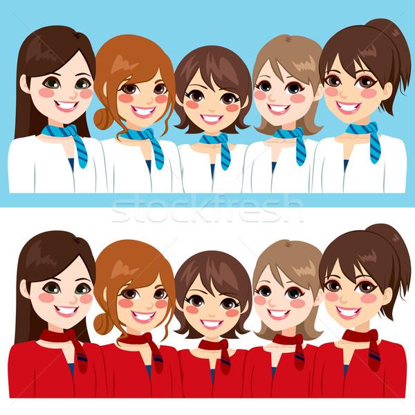 Stewardess Women Team Stock photo © Kakigori