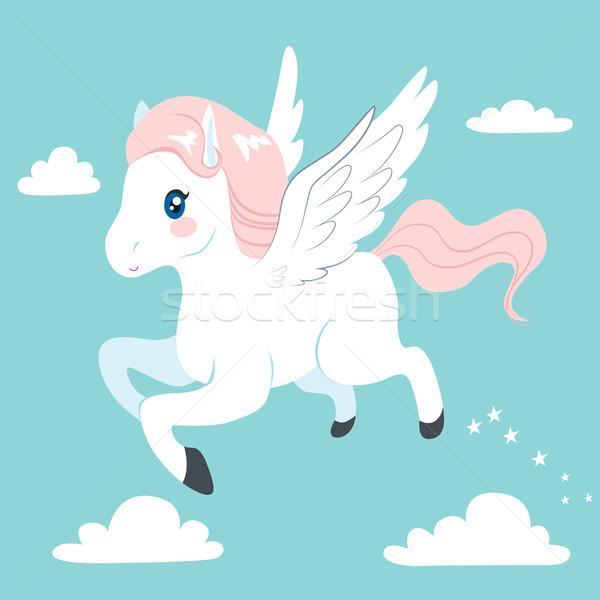 Flying Pegasus Stock photo © Kakigori