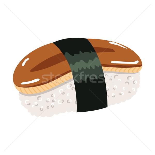 угорь маки суши иллюстрация Японский кухня Сток-фото © Kakigori