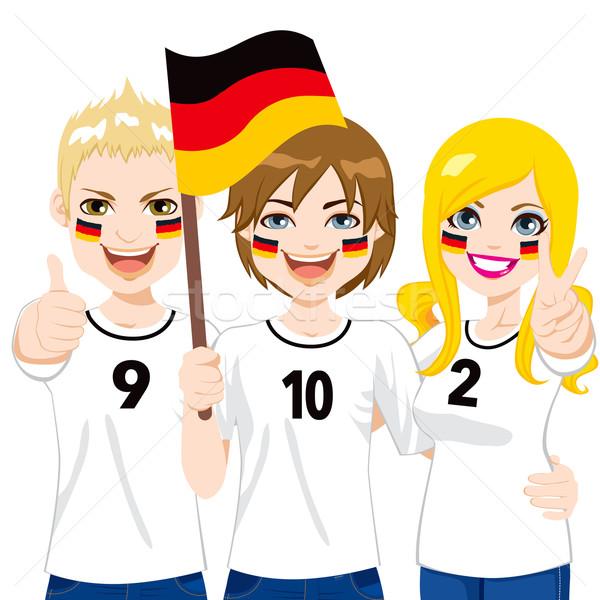 German Soccer Fans Stock photo © Kakigori