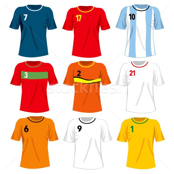 Soccer Team Uniforms Stock photo © Kakigori