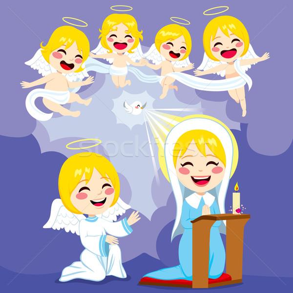Mary And Angels Annunciation Scene Stock photo © Kakigori