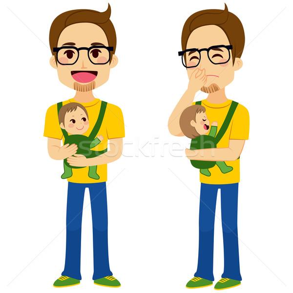 Father Holding Baby Stock photo © Kakigori