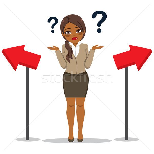 Businesswoman Choosing Way Concept Stock photo © Kakigori