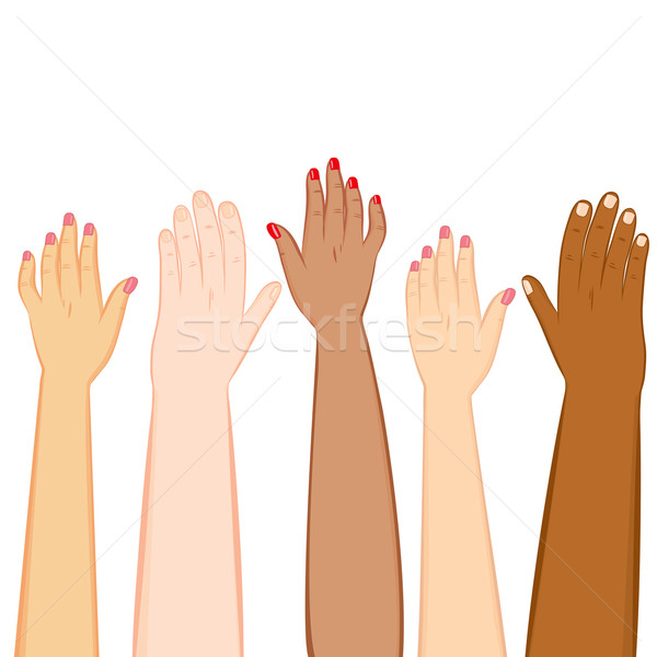 Diversity Hands Skin Tones Stock photo © Kakigori