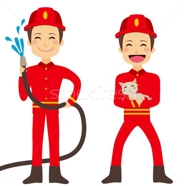 Fireman Working Stock photo © Kakigori