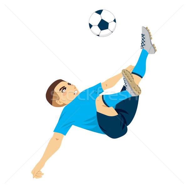 Soccer Player Scissor Kick Stock photo © Kakigori