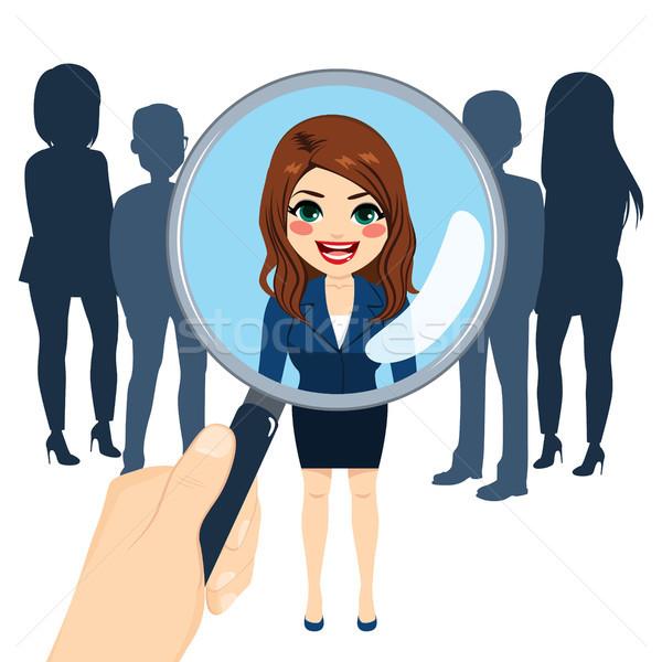 Trabajo reclutamiento entrevista mujer elección mano Foto stock © Kakigori