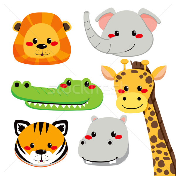 Cute Animal Faces Stock photo © Kakigori