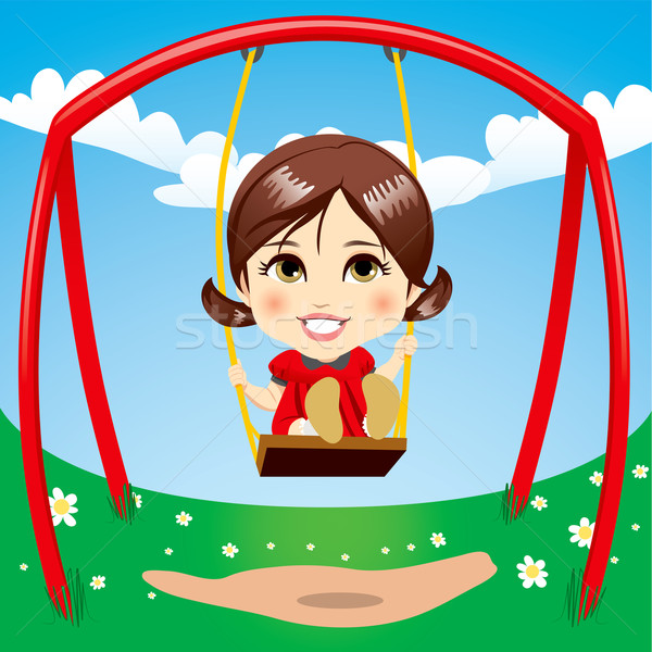 Sweet Girl Swinging Stock photo © Kakigori