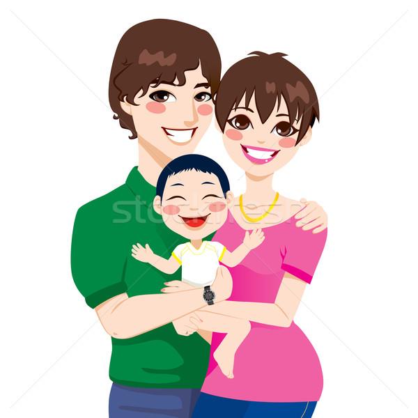 Young Couple Adopted Child Stock photo © Kakigori