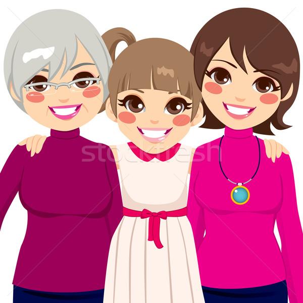три поколение семьи женщины улыбаясь счастливым Сток-фото © Kakigori