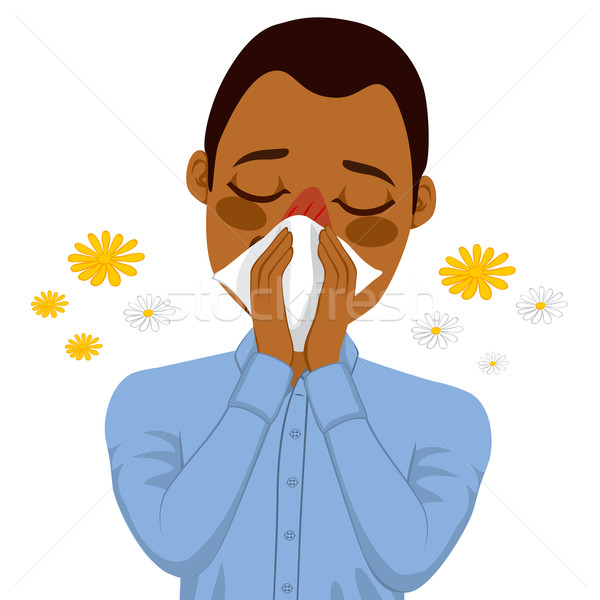 African American Man Suffering Allergy Stock photo © Kakigori