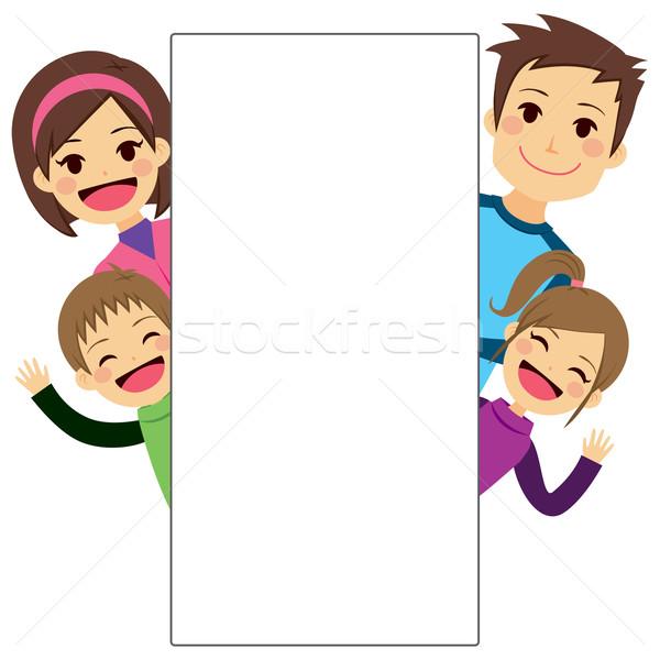 Young Family Placard Stock photo © Kakigori