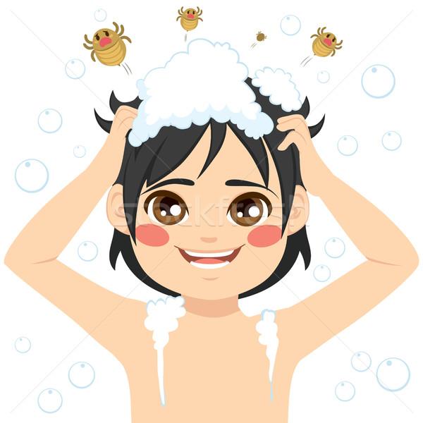 Ragazzo lavaggio capelli cute piccolo salute Foto d'archivio © Kakigori