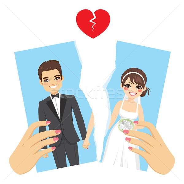 фото развод иллюстрация женщины рук отдельно Сток-фото © Kakigori