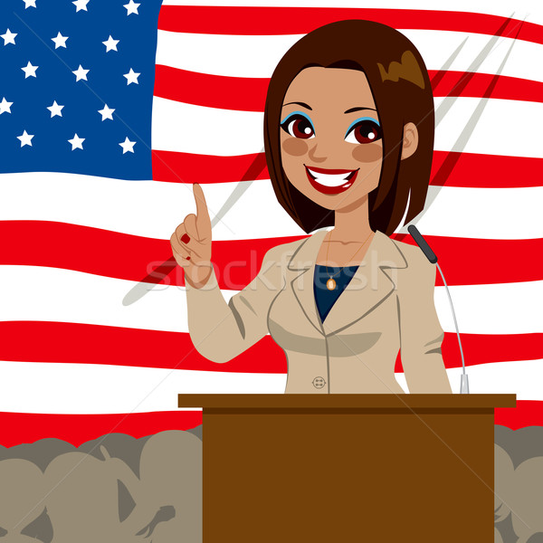 African American Politician Woman Flag Stock photo © Kakigori