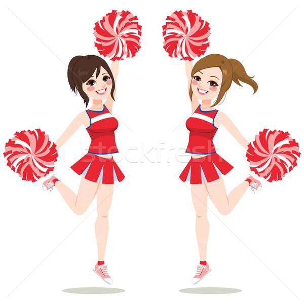 Ugrik tánc boldog fiatal lányok együtt Stock fotó © Kakigori
