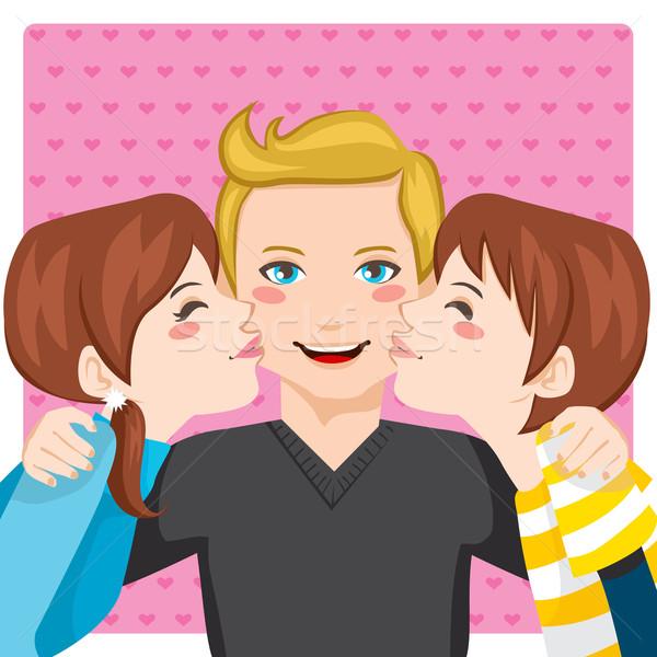 Kissing Dad Stock photo © Kakigori