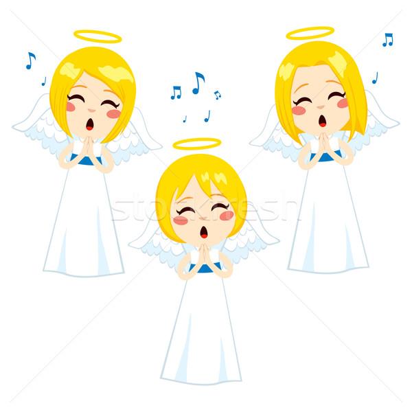 Angeli cantare tre cute piccolo Foto d'archivio © Kakigori