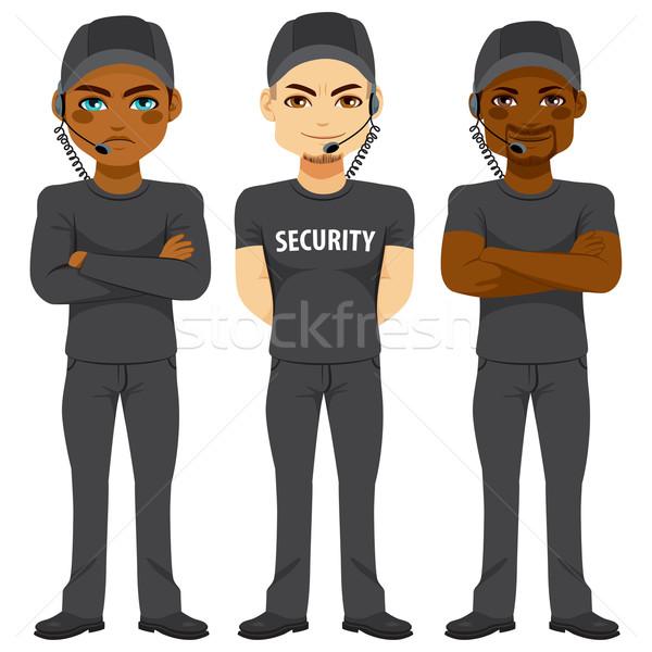 Sterke veiligheid team lijfwacht verschillend etniciteit Stockfoto © Kakigori