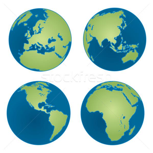 Four Earth Views Stock photo © Kakigori