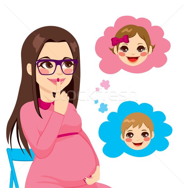 Pregnant Woman Wondering Stock photo © Kakigori