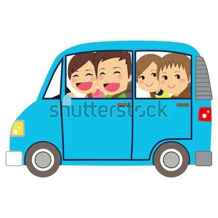 Stockfoto: Moeder · rijden · auto · baby · mooie · jonge