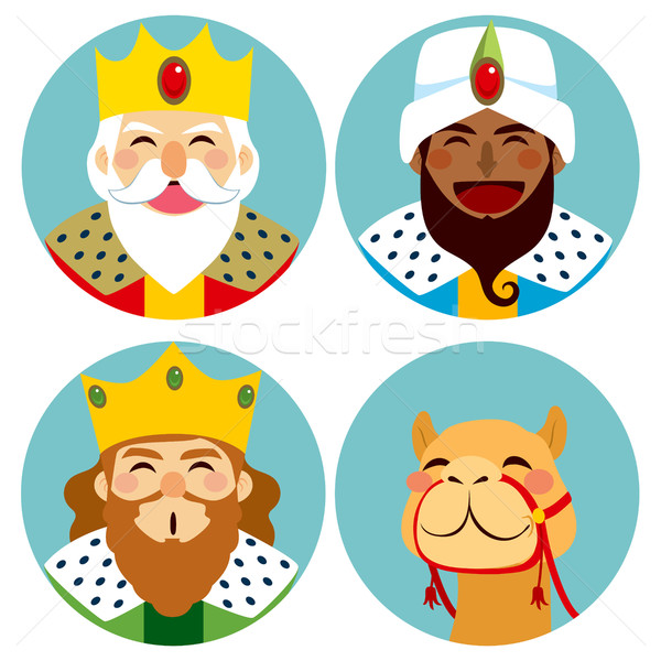 Three Wise Men Avatar Expression Stock photo © Kakigori