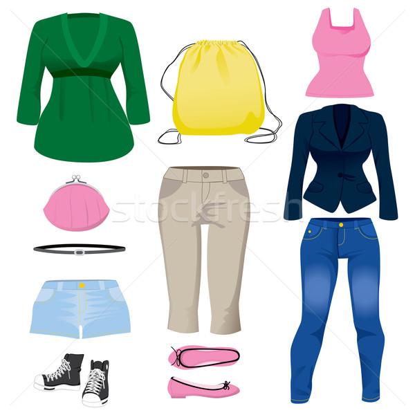 женщины одежду коллекция набор различный моде Сток-фото © Kakigori