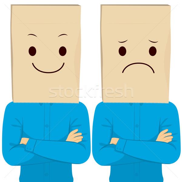 Stockfoto: Zakenman · gezicht · armen · gelukkig