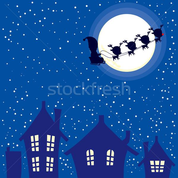 Santa Christmas Night Stock photo © Kakigori