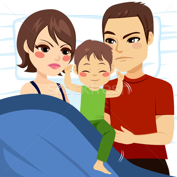 Parents Unable To Sleep Stock photo © Kakigori