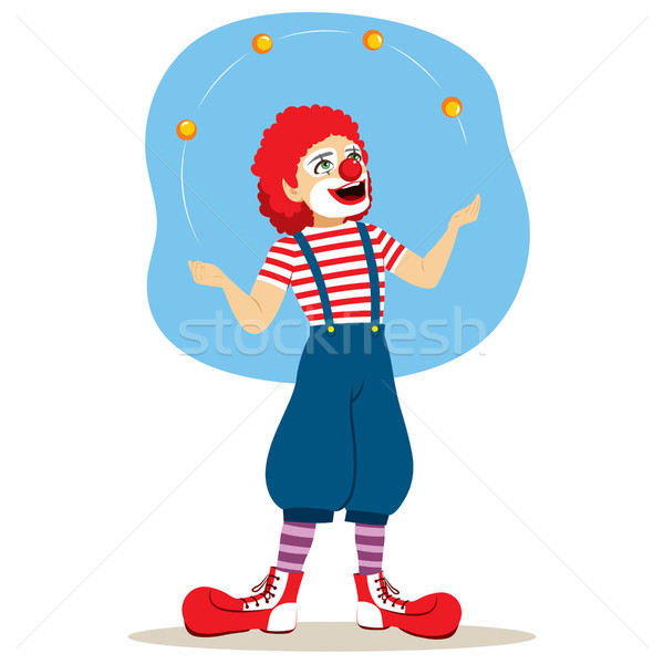 Funny Juggler Clown Stock photo © Kakigori