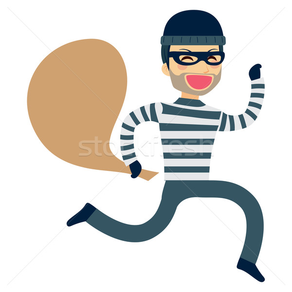 Hırsız çalışma soygun komik mutlu Stok fotoğraf © Kakigori