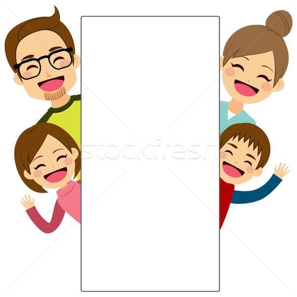 Happy Family Placard Stock photo © Kakigori